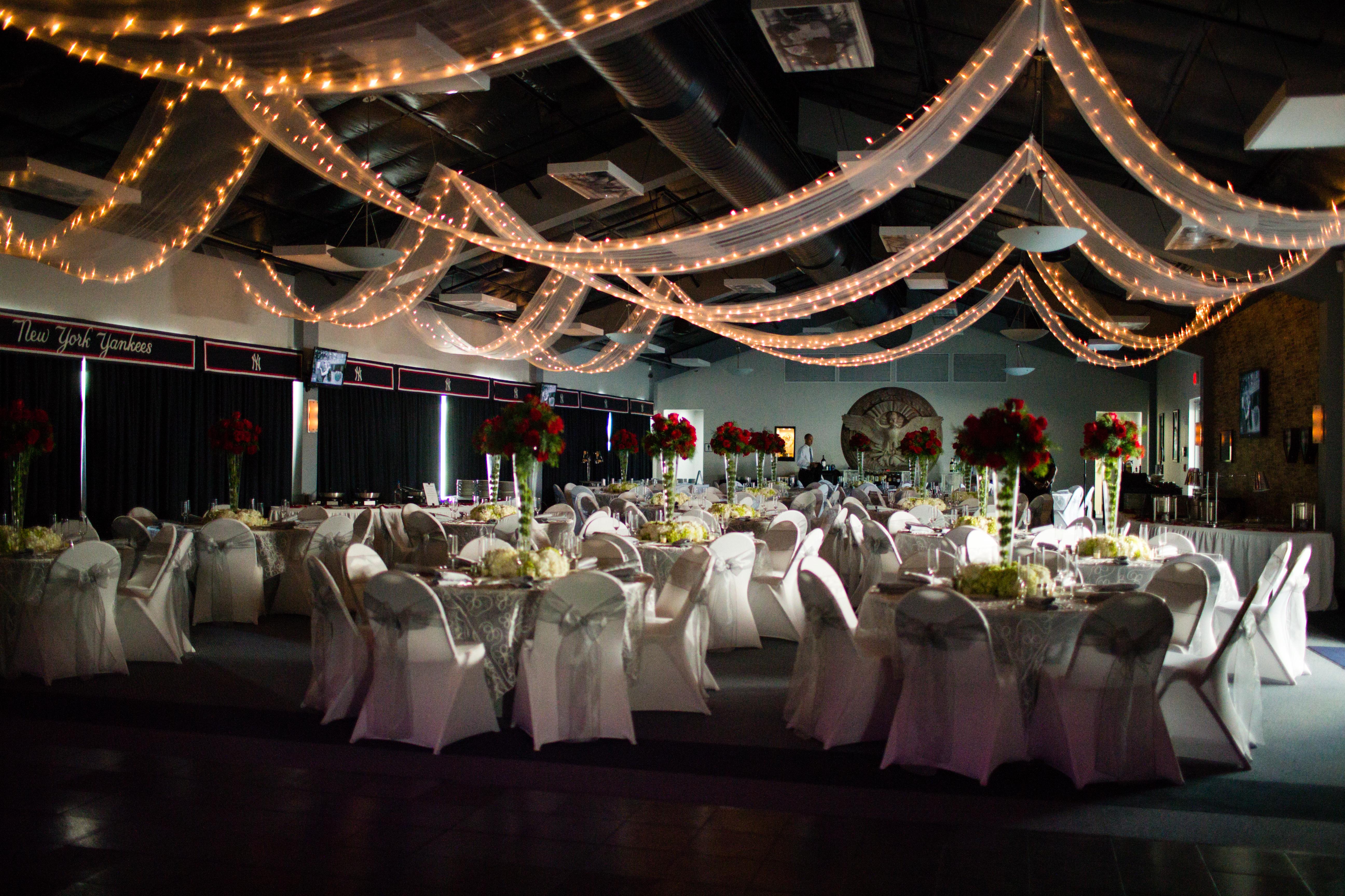 Pavilion set up for a wedding