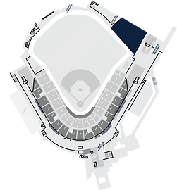 Stadium Layout with the Right Field Terrace Highlighted