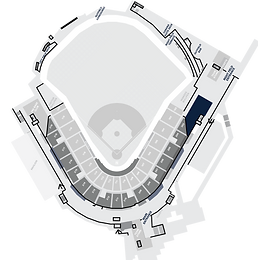 Stadium Layout with the Bullpen Club Highlighted