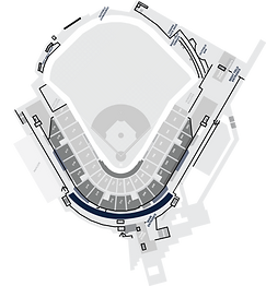 Stadium Layout With The Rooms To Go Luxury Suites Highlighted