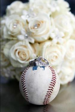 Ring set on a baseball