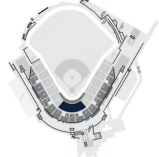 Stadium Layout with the Spectrum Dugout Club Highlighted