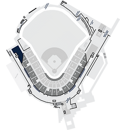 Stadium Layout with the 3rd Base Club Highlighted