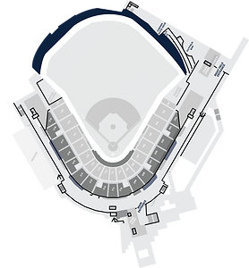 Stadium Layout with the BayCare 360 Walkway Highlighted