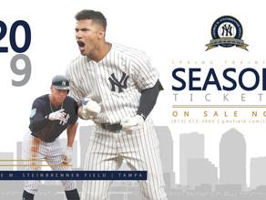 Yankees 2019 Spring Training Season Tickets