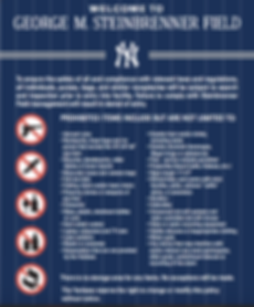 List of Spring Training prohibited items list