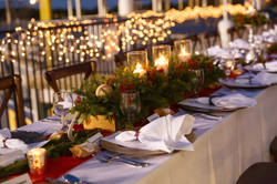 Christmas Party Table Set Up