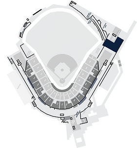 Stadium Layout with the Plaza Highlighted