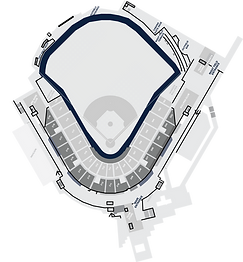 Stadium Layout with the Warning Track Highlighted