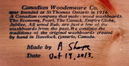 Canadian Woodenware About Message
