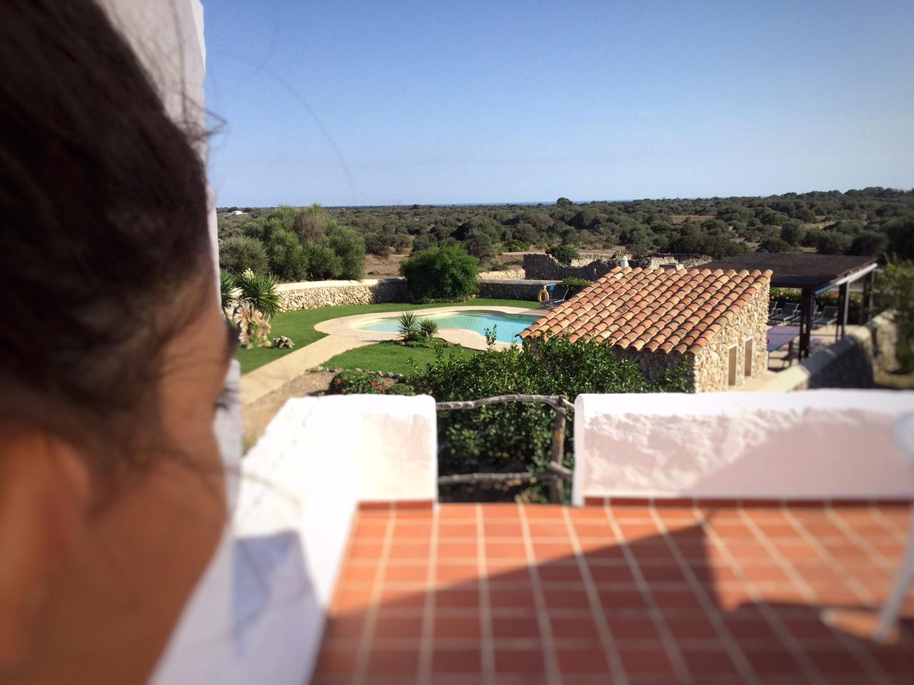 yoga menorca retreat villa TERRAZA