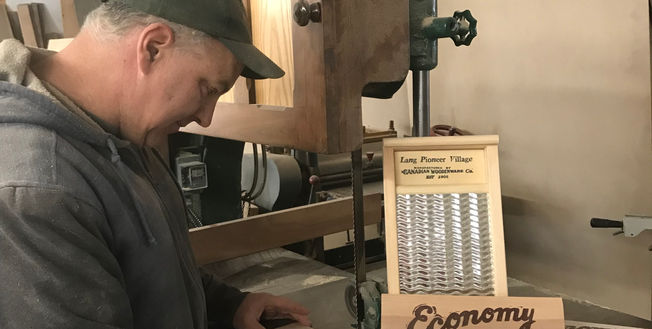 Andy working on a Washboard