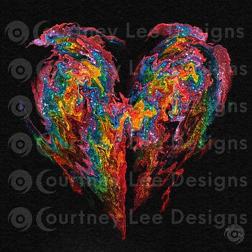 Creative Heart Digital Print