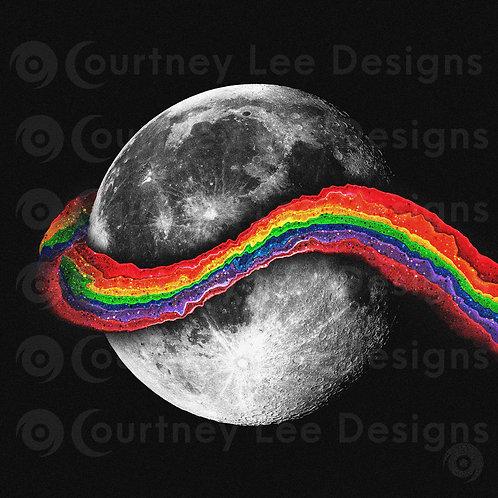 Lunar Rainbow Digital Print