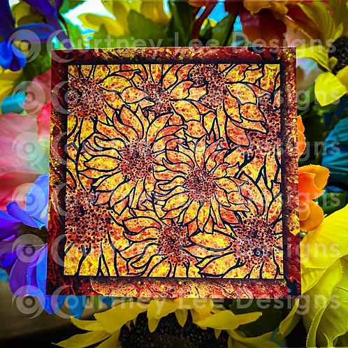 Sunflower Shadowbox