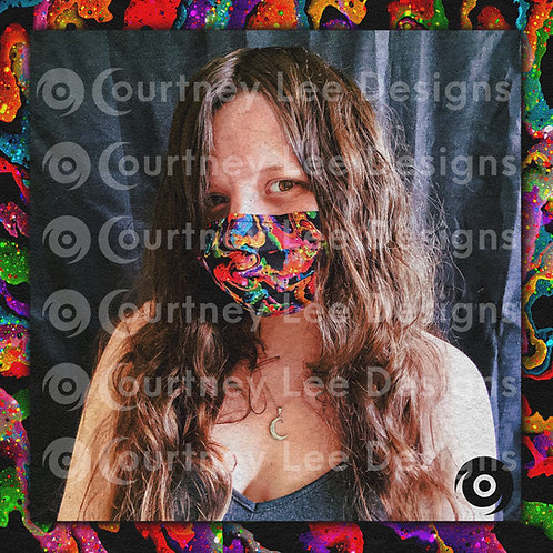 Rainbow Streamers Face Mask