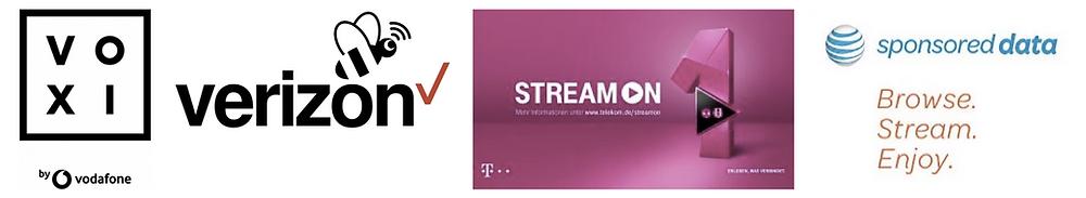 Vodafone Verizon T-Mobile AT&T
