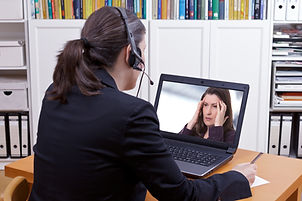 Women video chatting image