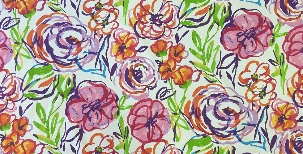 Watercolor Whimsical Flowers