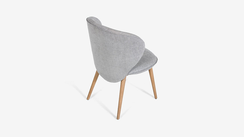 Lightweight solid wood and upholstery dining chair by Athanasios Babalis for Anesis