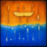 Algonquin canoe paddle art