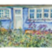 Muskoka cabin cottage garden painting acrylicc