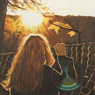 Muskoka girl sunlight painting