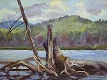 Robert Bateman Lake Sasajewun Painting
