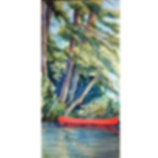 Muskoka canoe lake pine island shore paddle