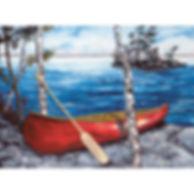 Muskoka canoe lake birch island shore paddle