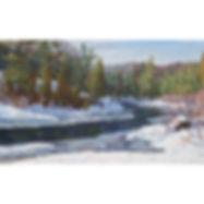 Algonquin Madawaska River winter forest