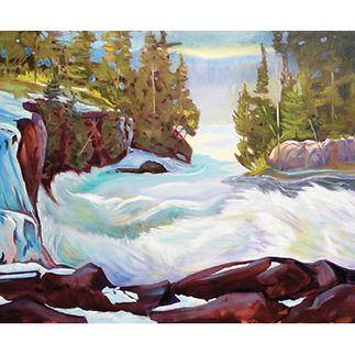 Algonquin rapids Muskoka paintingg