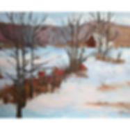 Algonquin cabin in woods, winter
