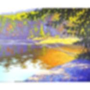 Algonquin lake trees sunshine art