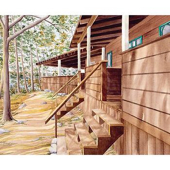 Muskoka cottage illustration painting