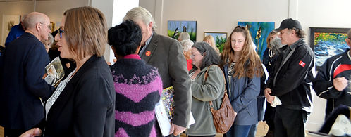 Art exhibit, crowd
