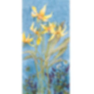 Flowers Muskoka painting yellow blueue