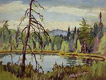 Robert Bateman Bat Lake ll Painting