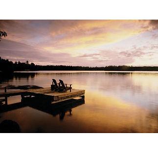 Muskoka Sunset Dock Lake Chairs
