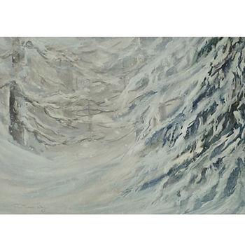 Muskoka winter scene snowstorm art