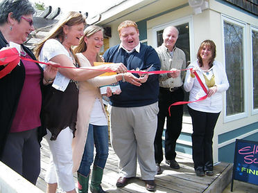 Artists of Algonquin book ribbon cutting