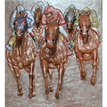 race horse bronze art