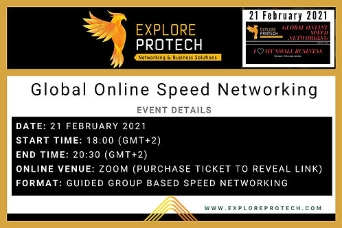 21 February 2021 Global Online Speed Networking -Returning Visitor's Ticket