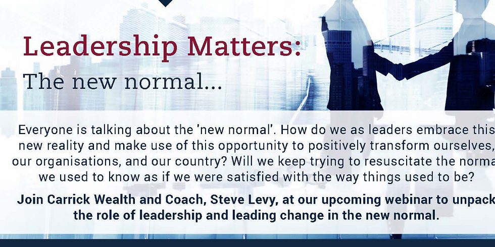 Leadership Matters: The New Normal