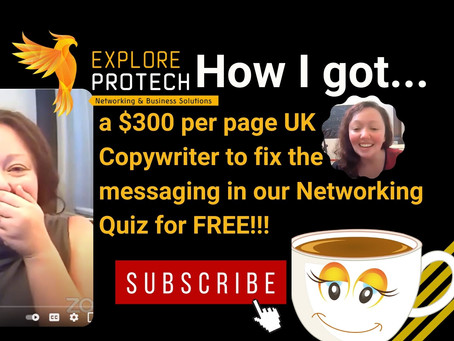 How I got a $300 per page UK Copywriter to fix the messaging in our Networking Quiz for FREE