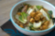 bowl of sissiboo nutrition's gut nourishing miso soup with bok choi and tofu