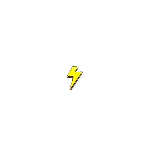 Lightning Bolt End Titanium Anodised Gold