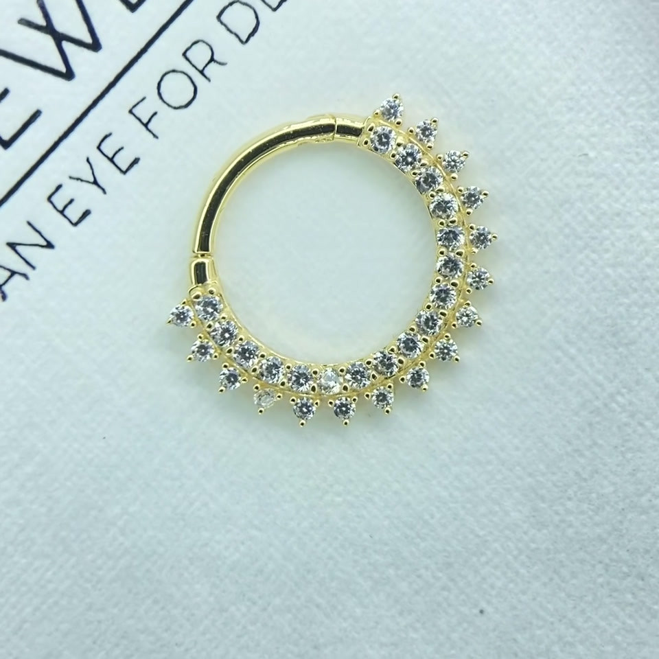 Gold set with Crystals