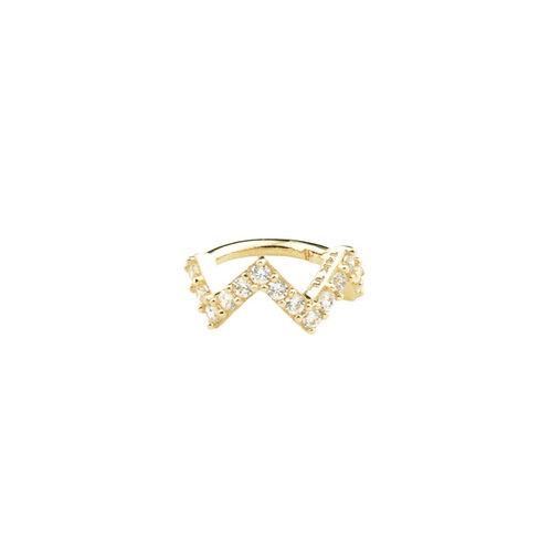 Tish Lyon Zigzag Ring 14kt Yellow Gold