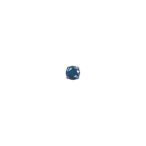 Swarovski Elements Gem End Black Titanium